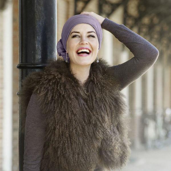 Joli Scarf - long crinkled, Dusty Purple